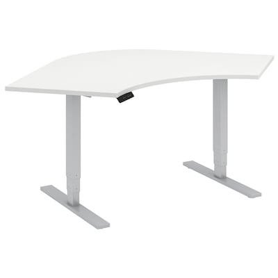 Move 80 Series By Bush Business Furniture 48 X 48 X 24 Corner Height Adjustable Standing Desk Installed, White (hat484824whfa)