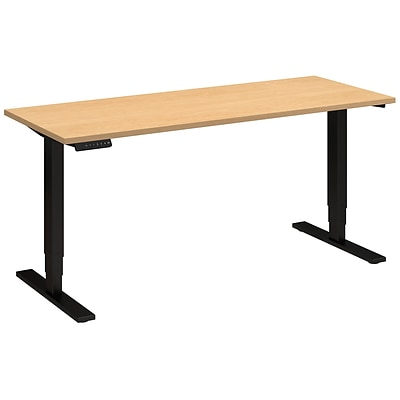 Move 80 Series by Bush Business Furniture 60W x 24D Height Adjustable Standing Desk - Installed, Natural Maple (HAT6024ACBKFA)