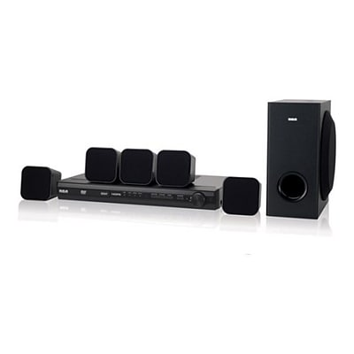 RCA RTD3276HA-RB Refurbished DVD Home Theater System, 100 W, Black