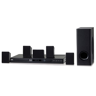 RCA RTB10230E-RB Refurbished Home Theater System, 100 W, Black
