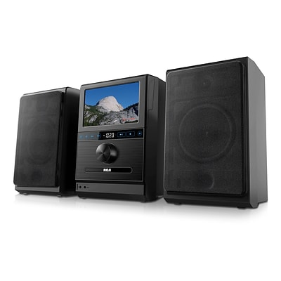 RCA RCS13101EK-RB Refurbished Home Stereo System, Removable 7-inch Android Tablet, Black
