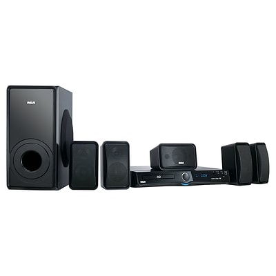 RCA RTB1100-RB Refurbished Home Theater System, 1000 W, Black