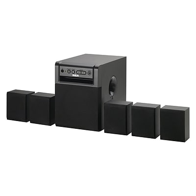 RCA RT151-RB Refurbished Home Theater System, 80W, Black