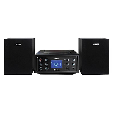 RCA RS2929B-RB Refurbished CD Mini Shelf Bluetooth System, Black