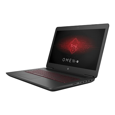HP® Omen 17-W220NR 17.3 Notebook, Intel Core i7-7700HQ, 1TB HDD, 12GB, WIN 10 Home, GeForce GTX1060