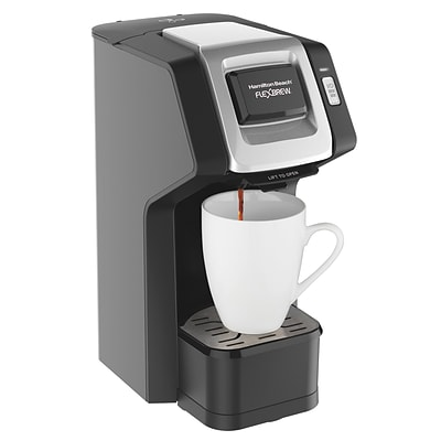 Hamilton Beach® FlexBrew® 49974 14 oz. Single Serve Coffee Maker, Black