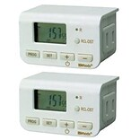 Woods Wire Indoor 24 hrs Digit Timer, White, 2/Pack (50007CC)