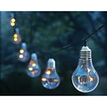 Moonrays® Plug-In Vintage Bulb String Lights, White (91107)