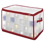 Whitmor Christmas Ornament Cube Case, Large, Clear/Red (61295353)