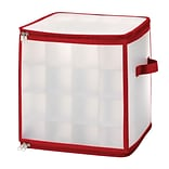 Whitmor Christmas Ornament Cube Case, Small, Clear/Red (61295354)