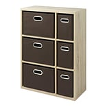 Whitmor 35 Multipurpose Storage Organizer Cabinet, Weathered Gray (64227930WGBB)