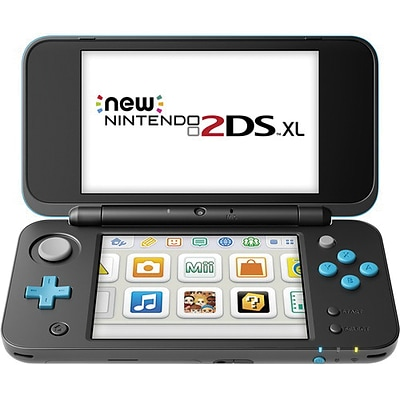 Nintendo® 2DS XL Handheld Game Console, Black/Turquoise