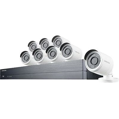 Samsung Wisenet SDHC75083BFN Wired DVR Security System with 8 Cameras