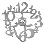 Koziol Quartz Movement 17.72 x 17.52 Solid Cool Grey Wall Clock (2327632)