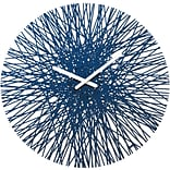 Koziol Quartz Movement Clock 17.64 x 17.64 Deep Velvet Blue SILK Wall Clock (2328585)