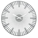 Koziol Quartz Movement 17.72 x 17.72 Solid Cool Grey PIANO Wall Clock (2340632)