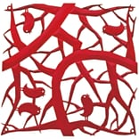 Koziol PIP Room Divider Ornament Set of 4 Transparent Red (2042536)