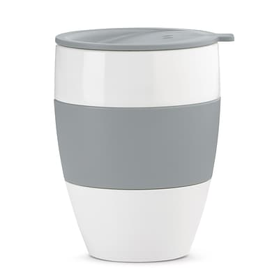 Koziol White with Cool Gray AROMA TO GO 2.0 Insulated Cup with Lid, 13.5 oz (3589478)