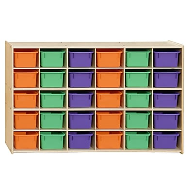 Contender™ 30 Tray Storage with Assorted Pastel Trays - Assembled (C16033APF)