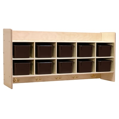 Contender™ Wall Hanging Storage with (10) Brown Trays - Assembled (C51402F)