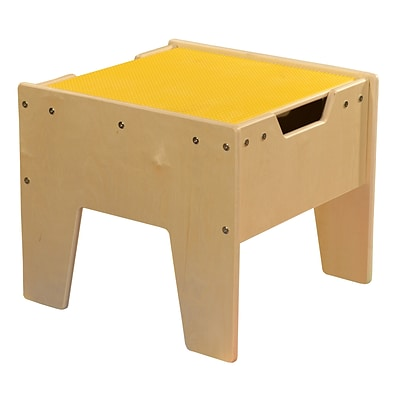 Contender™ 2-N-1 Activity Table with Yellow LEGO™ Compatible Top - RTA (C991300-Y)