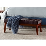 Elle Decor Claire Tufted Bench, Chocolate Brown (OTMCLRBRNL02)