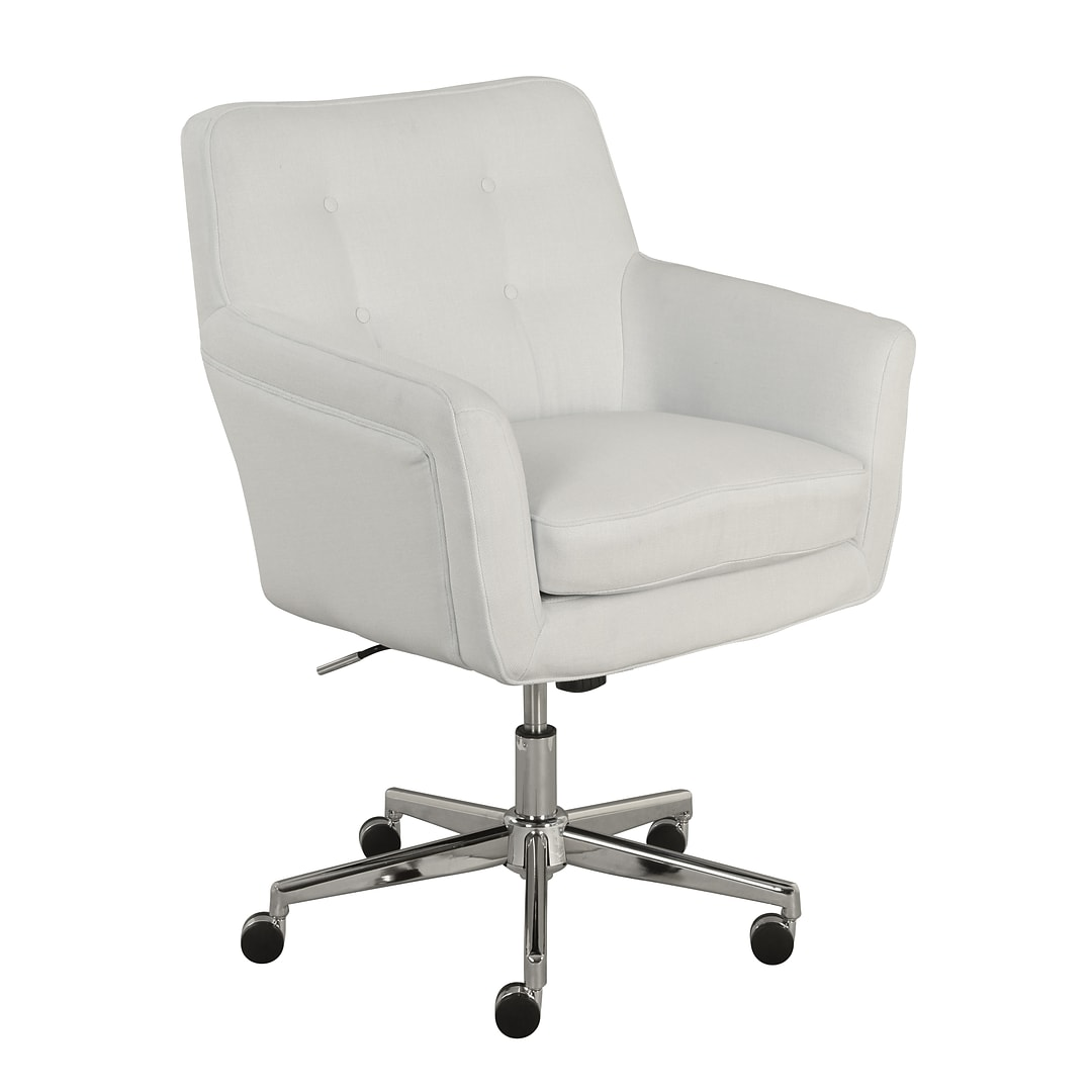 Serta Ashland Fabric Home Office Chair Ivory 48372 Quill Com