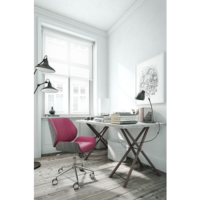 ELLE Decor Ophelia Bentwood Fabric Task Chair, Fuchsia (CHR200015)