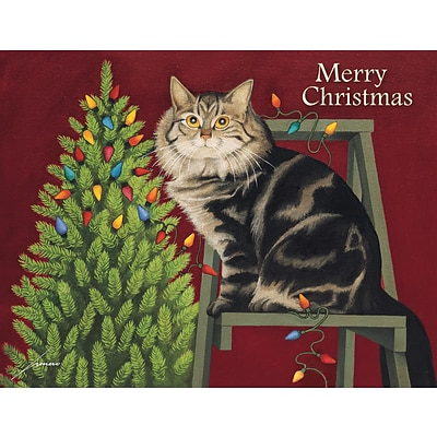 LANG STRINGING LIGHTS BOXED CHRISTMAS CARDS (1004833)