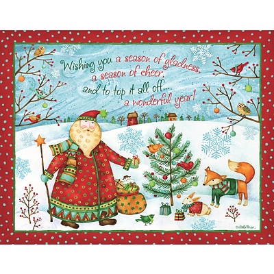 LANG SANTAS GIFT BOXED CHRISTMAS CARDS (1004835)