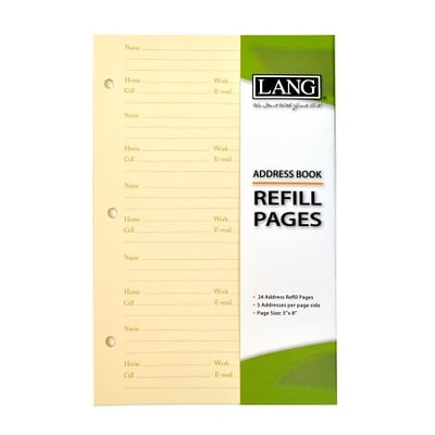 Lang Address Book Refill Pages (113100)