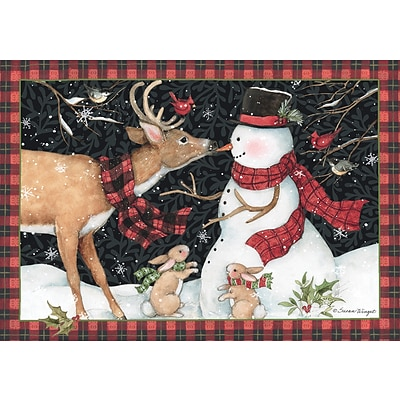 LANG REINDEER KISSES PETITE CHRISTMAS CARD               (2004534)