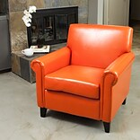 Noble House Russell Bonded Leather Club Chair Orange Single (216739)