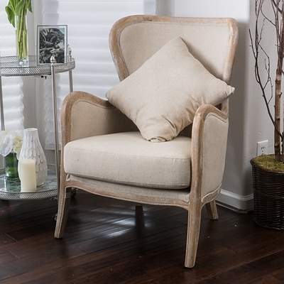 Noble House Bright Fabric Side Chair Beige Single (296543)