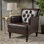 Noble House Brandon Bonded Leather Club Chair Brown Single (237354)