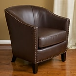 Noble House Roseanne Reconstituted Bycast leather Club Chair Brown Single (218706)