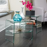 Noble House Cindy End Table Transparent (296243)