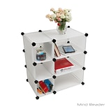 Mind Reader 3CUBE3-WHT Multi-Purpose Magic Cube Storage Organizer, White