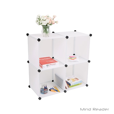 Mind Reader 4MODCUBE-WHT Multi-Purpose Magic Cube Storage Organizer, White