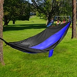 Mind Reader IRHAM300-BLU Nylon Hammock with Iron Carabiner - 118 X 78 , Blue