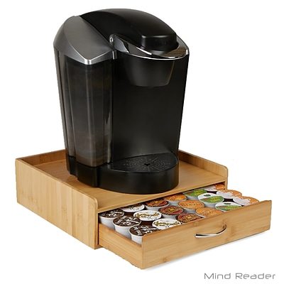 Mind Reader Bamboo K-Cup® Drawer with Lip Panel, Brown (KPANELBM-BRN)