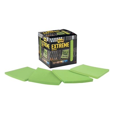 Post-it® Extreme Notes, 3 x 3, Green, 12 Pads/Pack (EXTRM33-12TRYG)