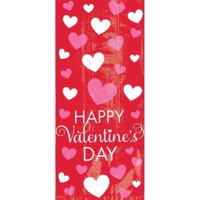 Amscan Happy Valentines Day Small Cello Bag, 9.5 x 4 x 2.25, 7/Pack, 20 Per Pack (370211)
