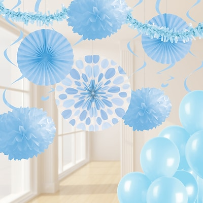 Creative Converting Pastel Blue Party Decorations Kit (DTCPSTBL1A)