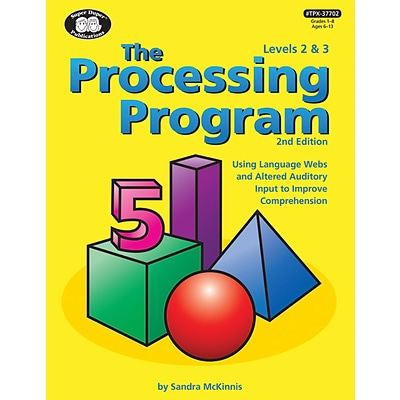 Super Duper Publications The Processing Program, Levels 2 and 3, Revised 2nd Edition, Hardcover (TPX37702)