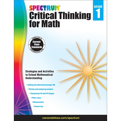 Spectrum Critical Thinking for Math, Grade 1 Paperback (705113)