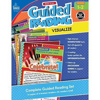 Carson-Dellosa Ready To Go Guided Reading: Visualize, Grades 1 - 2 Paperback (104967)