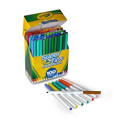 Crayola® Super Tips Washable Markers 100/Pack (58-5100)