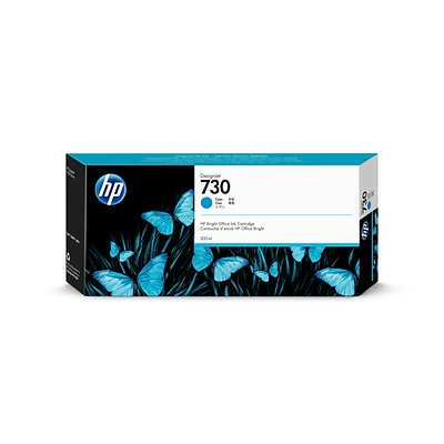 HP 730 DesignJet 300ml Cyan Ink Cartridge (P2V68A)