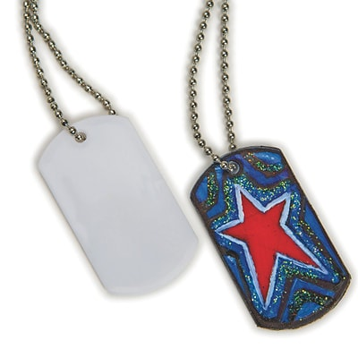 S&S Worldwide Color Me Dog Tag Necklaces, 50/Pack (CF-14136)